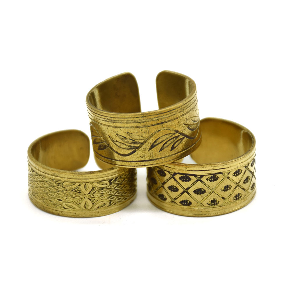 Different Brass 3 Pieces Set Finger Rings