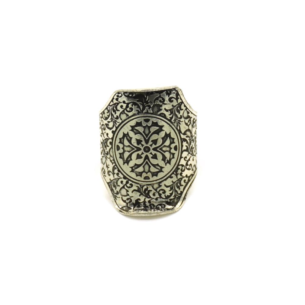 Christian Design Silver Finger Ring