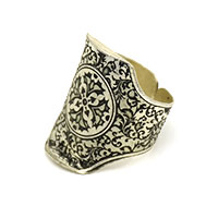 MRA-332,Christian Design Silver Oxidised Finger Ring1-a