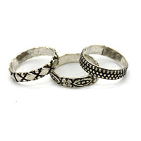 MRA-347,Round Silver Oxidised Finger Ring@-a