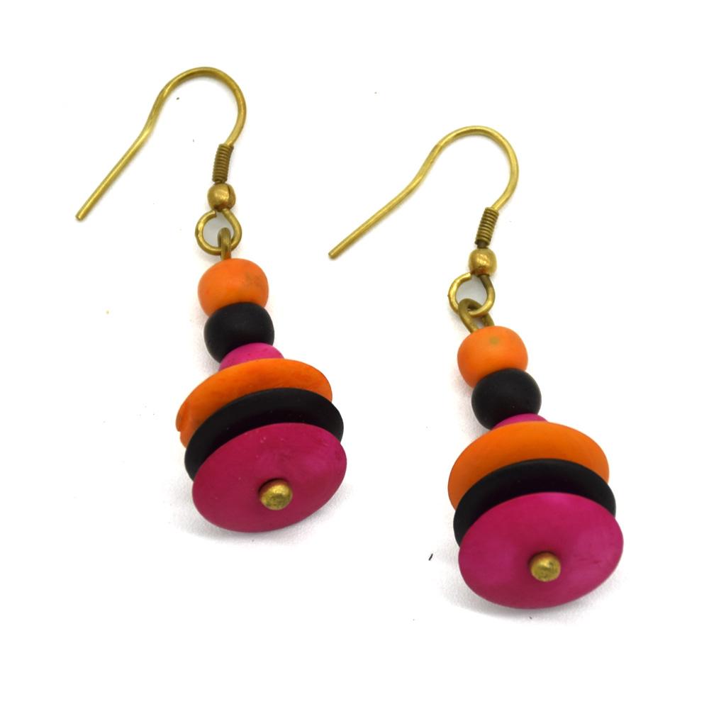 Bone Beads Earrings