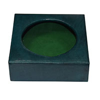 MGlA-814,Leather Drink Holder-Green-a