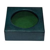 Leather Drink Holder- Green