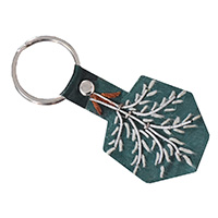 MMcA-2546, Leather Tree Key Ring-a