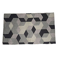Geometric Rug-Grey and Black