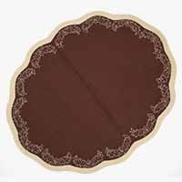 Scallop Border Brown Placemats- Set of 4