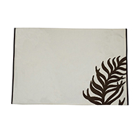 Leave White Placemats- Set of 4
