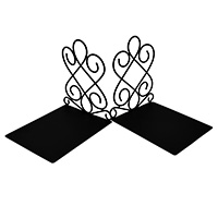 MBeA-1001,Wrought Iron Bookends-a