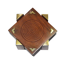 MCoA-1727,Wooden Coaster-Set of 4-a