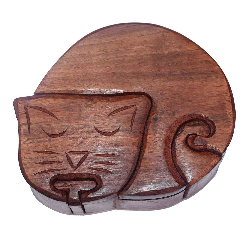 Cat at Rest Puzzle Box
