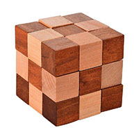 MGA-2840, Wooden Snake Cube Wooden Puzzle-a