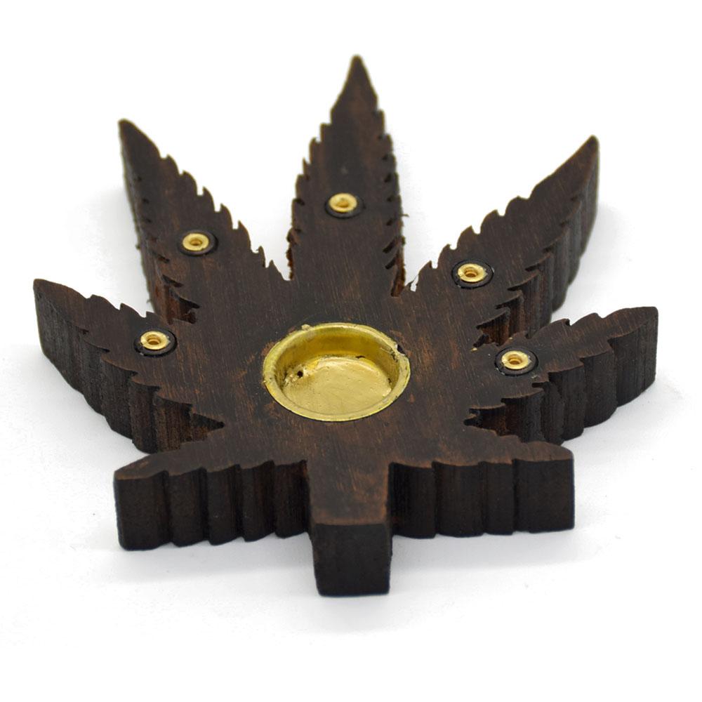 Leaf Incense Holder-Brown