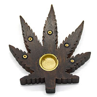 Leaf Incense Holder-Brown