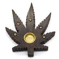 MIA-2117,Leaf Incense Holder-Brown1-a