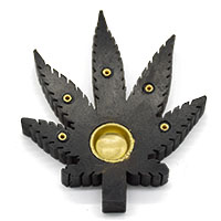 Leaf Incense Holder-Black