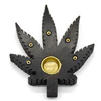 MIA-2118,Leaf Incense Holder-Black1-a