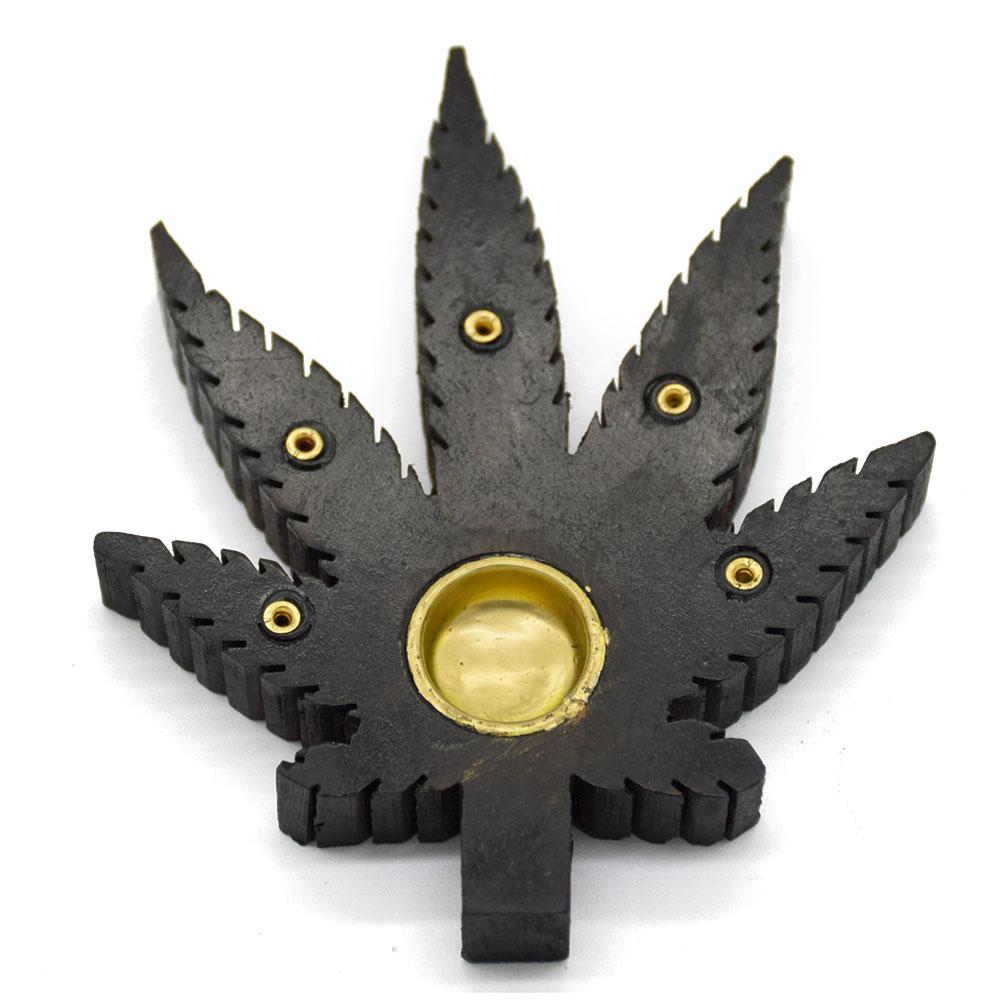 Leaf Incense Holder-Black