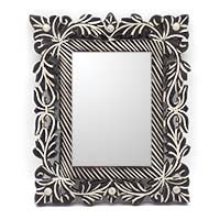 MMA-3701,Floral Wall Mirror-a