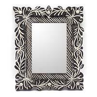 MMA-3701,Floral Wall Mirror-a