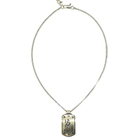 MMcA-2552,Om Shiv Small Silver Oxidised Long Chain Necklace,Nickel Free-a