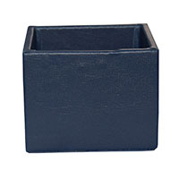 MNpA-1527,Blue Leather Napkin Box-a