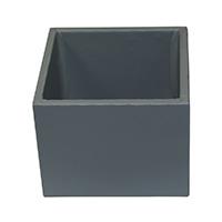 MNpA-1528,Grey Leather Napkin Box-a