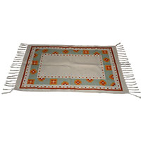 Dotted Rug-Orange and Green