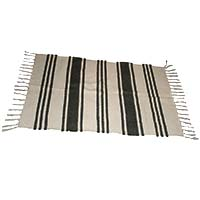 Striped Rug-Black and White