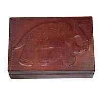 MWA-1409,Elephant Leather Box-a