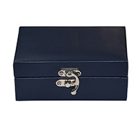 MWA-1487,Blue Leather Gift Box-a