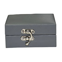 Grey Leather Gift Box