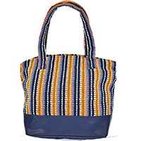 MBaA-1921,Striped Shoulder Tote-a