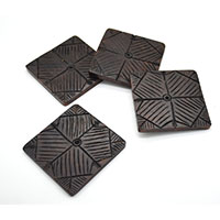 MCoA-1728, Hand Carved Bold Coasters-Set of 4-a