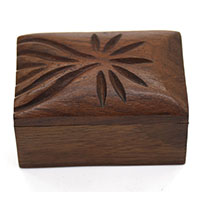 Hand Carved Wooden Box