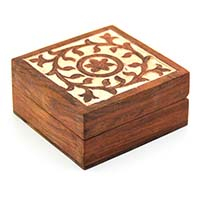 Glorious Flower Wood Box