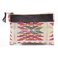 MBaA-1927,Triangled Colored Tassel Pouch-a