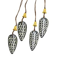 Bell & Bone Ornaments-Set of 4