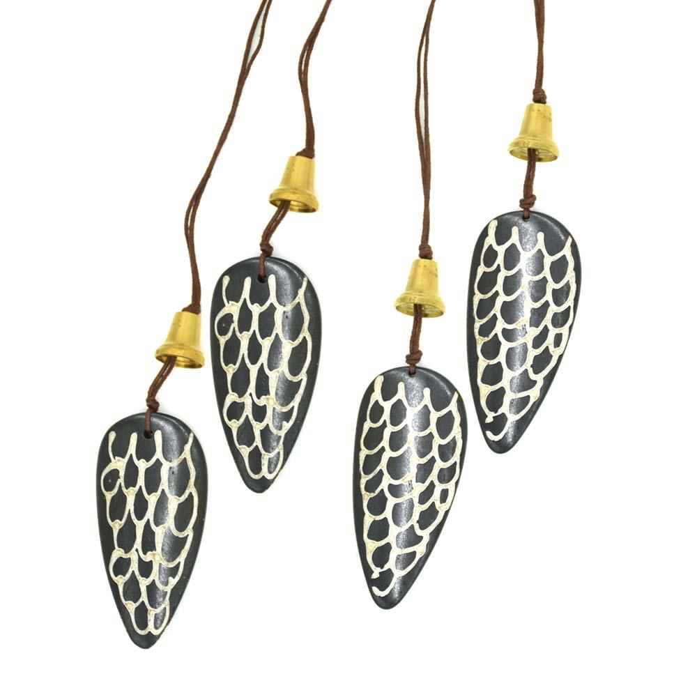 Bell & Bone Ornaments-Set of 4