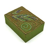 Beads Leaves Jewellery Box