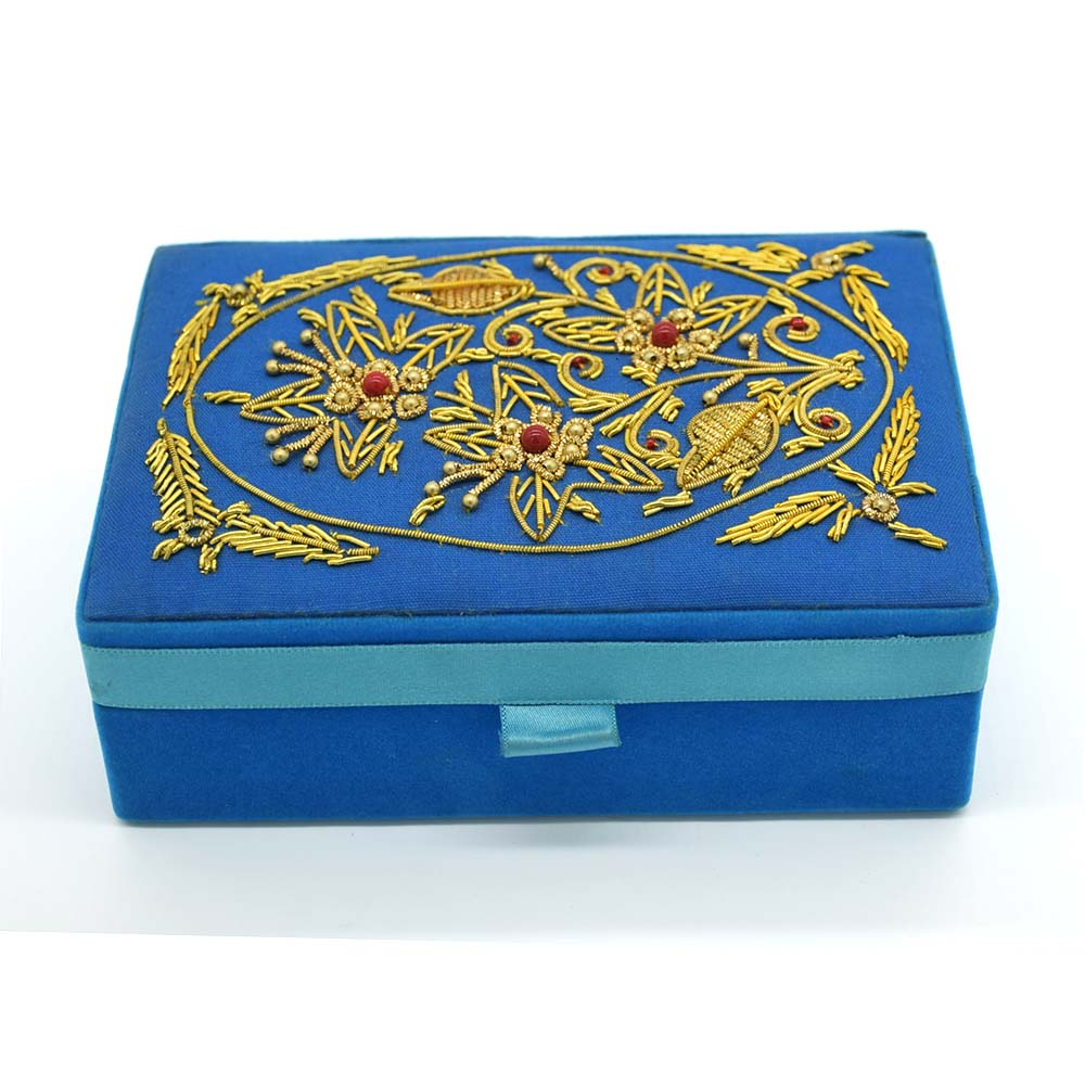 Beads Floral Embroidered Jewellery Box