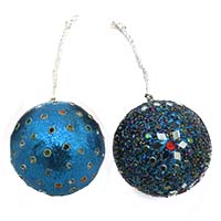 Round Ornaments-Blue, Set of 2