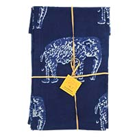 Two Toned Shibori Napkins- Elephant (Set of 4)