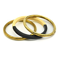 Brass Black & White Bangle Set