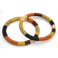 Cotton Thread Wrapped Wooden Bangle