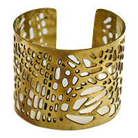 Big Jali Cut Brass Cuff
