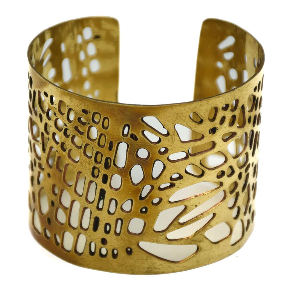 Big Jali Cut Brass Cuff