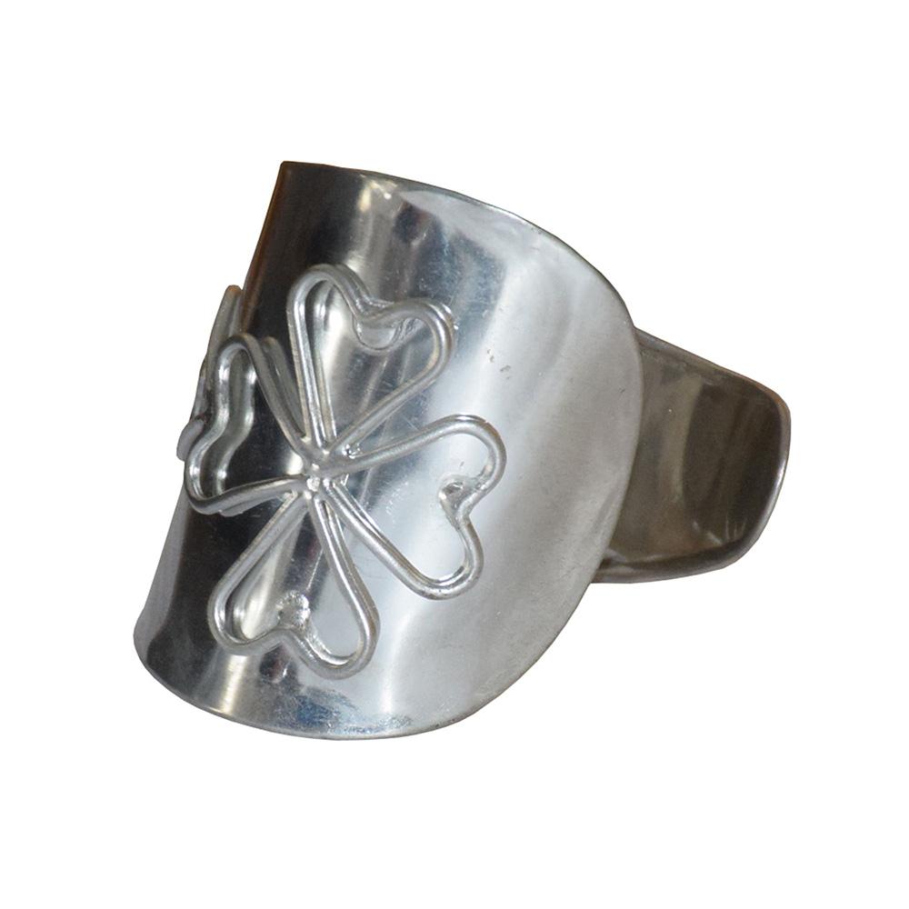 Heart Wired Silver Cuff