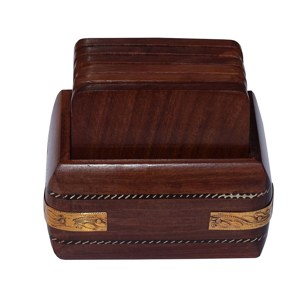 Wooden Coasters-Set of 6