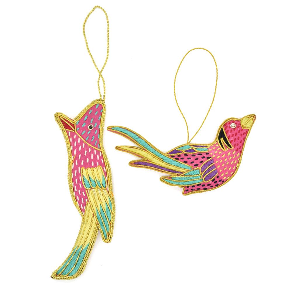 Bird Ornaments-Pink