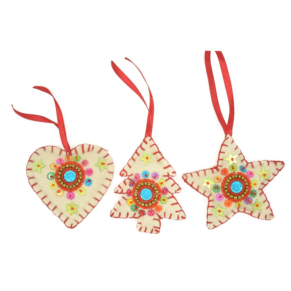 Christmas Ornaments-Set of 3